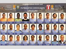 Convocatoria de Uruguay para juegos de eliminatoria