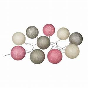Guirlande Lumineuse Boule Rose : guirlande lumineuse 10 boules achat vente guirlande lumineuse 10 boules pas cher cdiscount ~ Melissatoandfro.com Idées de Décoration
