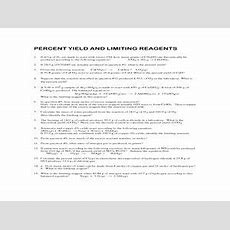 Limiting Reagent Worksheet Answers  Briefencounters Worksheet Template Samples