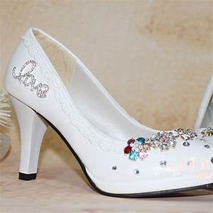 free shipping white wedding shoes woman high heel With comfortable wedding dress shoes