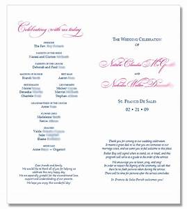 6 best images of catholic wedding program template With catholic wedding ceremony program