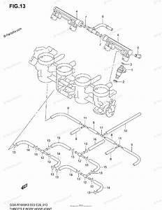 Suzuki Motorcycle 2003 Oem Parts Diagram For Throttle Body