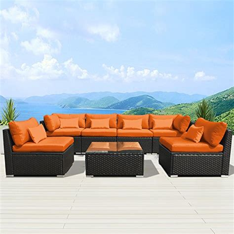 modenzi 7g u outdoor sectional patio furniture espresso