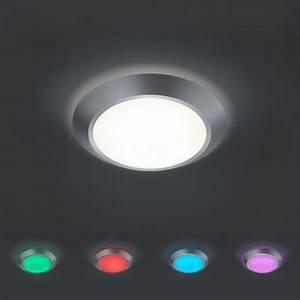 Deckenlampe Mit Farbwechsel : led deckenleuchte mit rbg farbwechsel dimmbar wohnlicht ~ A.2002-acura-tl-radio.info Haus und Dekorationen