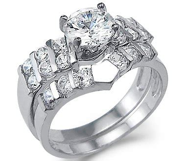 bridal ring sets size   large solid  white