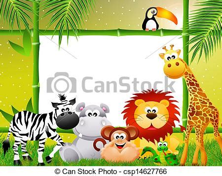 stock illustration  zoo animals cartoon csp