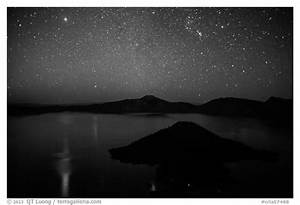 Black and White Picture/Photo: Stars and reflections over ...