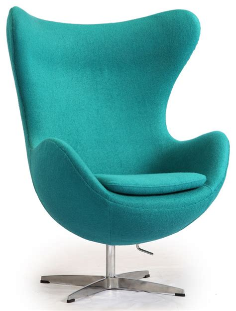 kardiel egg chair turquoise boucle wool modern