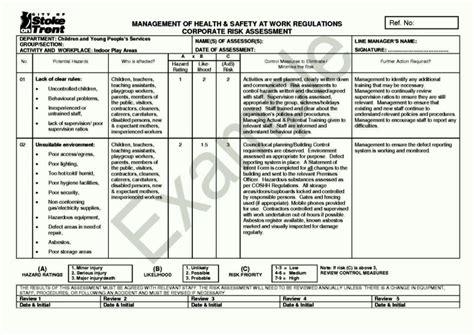 asbestos risk assessment template sampletemplatess