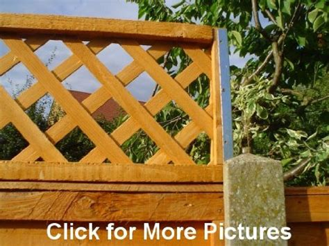 Trellis Fence Extension by Garden Trellis Panels Co Uk