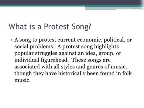 American Protest Songs In The 20th Century