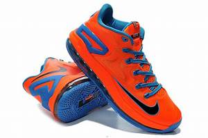Low Price For Newest Nike Lebron James 11 Low Orange Blue