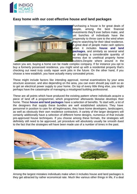 Ppt Easy Home With Our Cost Effective House And Land