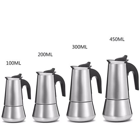 This is one respected model and brand. Stainless Steel Moka Coffee Pot Stovetop Espresso Maker Moka Latte Filter Percolator Tools ...