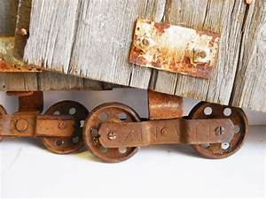 two antique barn door rollers frantz wheels w barn wood With barn door rollers only
