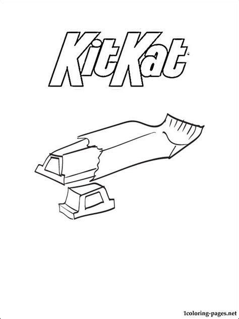 kitkat coloring page coloring pages