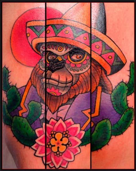 school chicano monkey tattoo  chapel tattoo