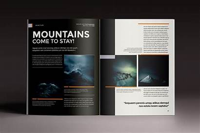 Indesign Magazine Template Templates Multipurpose Marshal Pages