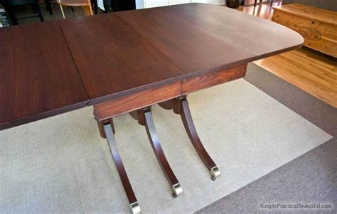 restoring  midcentury table staining furniture