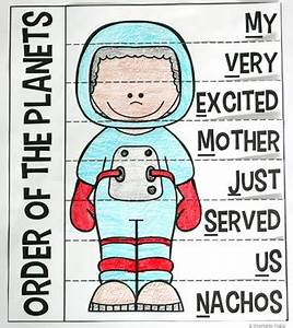 Order of the Planets Mnemonic Device by Stephanie Trapp | TpT