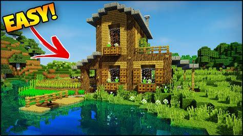 minecraft amazing startersurvival house tutorial   build  easy housebase