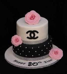 Chanel Bling Cake With Sugar Chanel Camellias