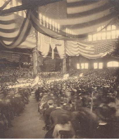 Crowd Stereoview Animated Chubachus Convention Unknown Hall