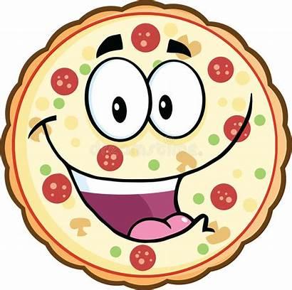 Pizza Cartoon Funny Character Mascot Illustration Isolated