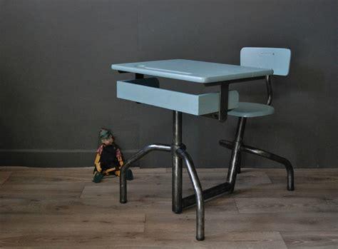 siege coiffeuse ancien bureau d 39 écolier mobilor atelier vintage