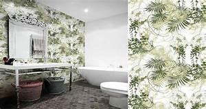 Papier Peint Pour Salle De Bain : papier peint vinyle pour salle de bain ~ Dailycaller-alerts.com Idées de Décoration