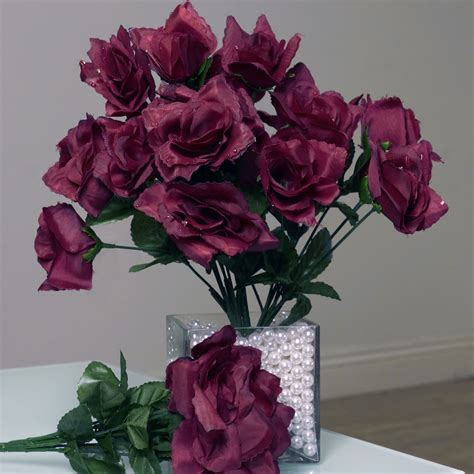 open roses wedding wholesale discount silk flowers