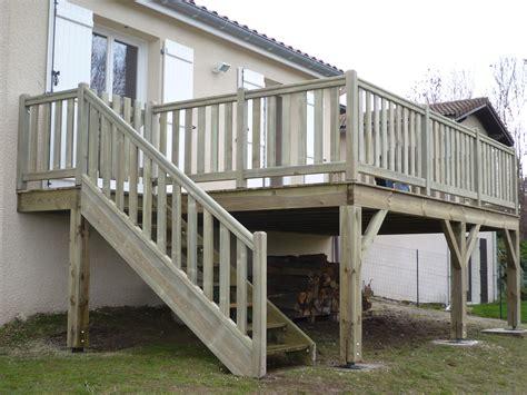 terrasse surelevee en bois terrasse bois en hauteur