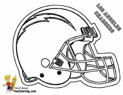 Coloring Football Pages Helmet Nfl Chargers Diego