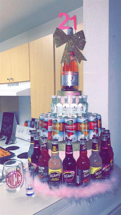 21st birthday decorations 21st birthday ideas for your bestfriend mini bottle cake