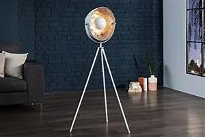 Stehlampe Retro Design : dunord design stehlampe stehleuchte cinema 140cm weiss silber retro design lampe spotlampe 1 ~ Bigdaddyawards.com Haus und Dekorationen