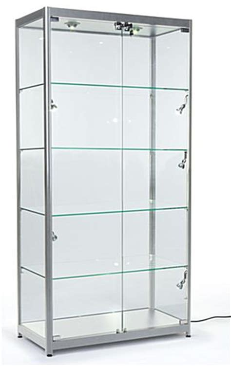glass display cabinet with lock the silver frame display cases come with several great