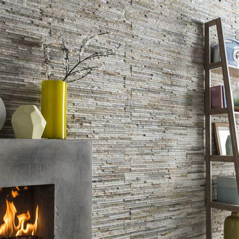 cuisine facade bois plaquette de parement naturelle gris beige