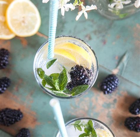 r駭ov cuisine food fresh blackberry mint lemonade made by
