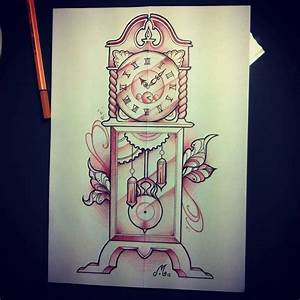 Boxer And Grandfather Clock Tattoos Drawing photo - 2 ...