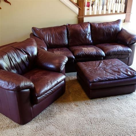 leather sofa and ottoman set leather trend sofa chair and ottoman set ebth