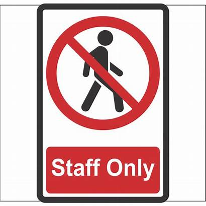 Staff Aluminum Signs Safety Workplace