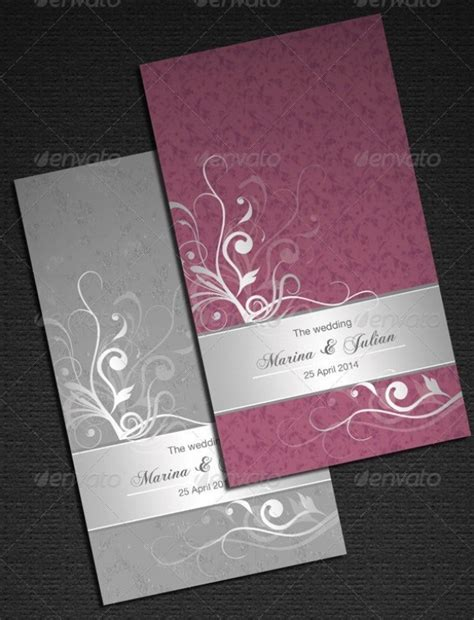 37+ Awesome PSD & InDesign Wedding Invitation Template