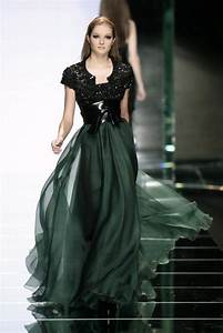 Top Green Gowns with Black Trim Runway Fashion ...