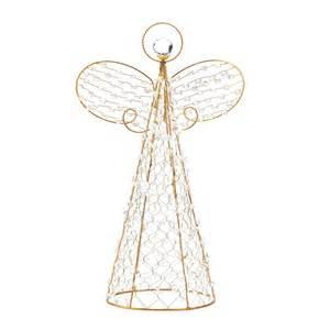 golden wire frame beaded angel christmas decor centerpiece