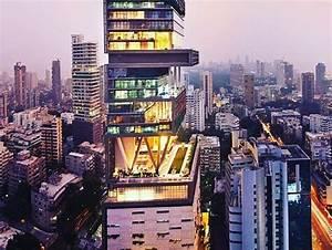 Da Design Mumbai Maior Mansão Do Mundo Fica Em Mumbai Na índia