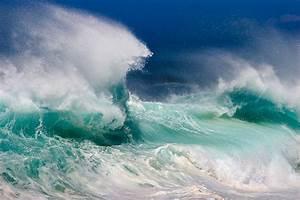 Wallpaper, Landscape, White, Sea, Water, Nature, Shore, Beach, Green, Blue, Waves, Coast, Ocean