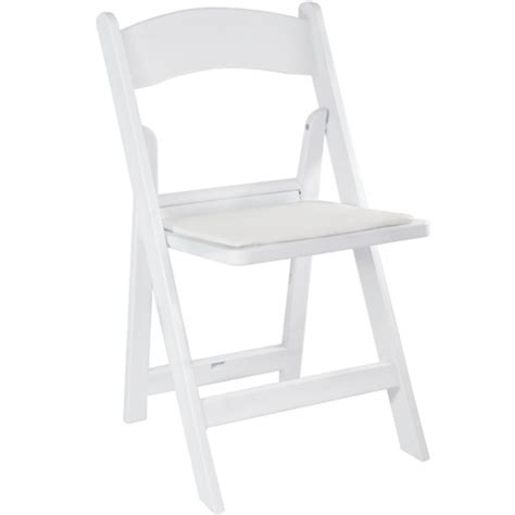 white resin folding wedding chair padded folding chairs
