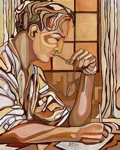 """""""Man Writing"""" by Oliver Ray"""