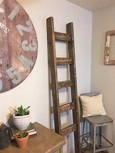 Blanket, Ladder, 7, Foot, Decorative, Wooden, Ladder, Farmhouse