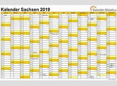 Feiertage 2019 Sachsen + Kalender